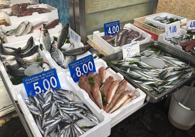 Fish Market in Naples, Italy.
