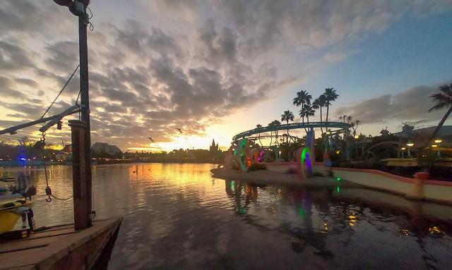 Sunset in Magic Kingdom #Sunset #Disney #MagicKingdon