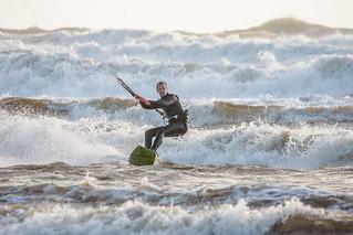 Bigbury Bay Kite Surfer 09