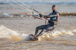 Bigbury Bay Kite Surfer 06