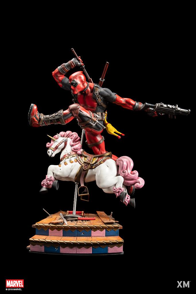 跳過旋轉木馬準備大開殺戒?! XM Studios Premium Collectibles 系列 Marvel【死侍】Deadpool 1/4 比例全身雕像 Ver A/Ver B