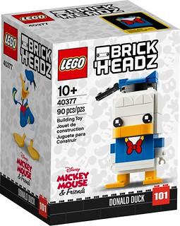 期待已久,米奇的好朋友們終於來囉! LEGO 40377、40378 BrickHeadz 系列【唐老鴨、高飛&布魯托】Donald Duck、Goofy and Pluto
