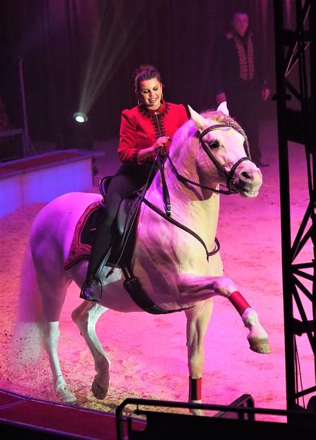 Christmas Circus Carl Busch Show in Frankfurt, Germany - Rider is Natascha Wille-Busch