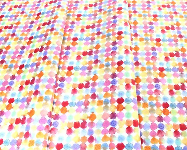 Windham Fabrics Rain or Shine 51648-X Rainbow Dots