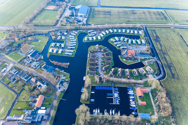 Waterpark Terkaple mit Ferienhäusern und Bootsanlegeplatz, Niederlande