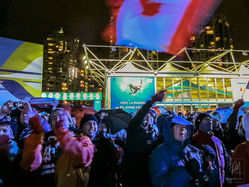 Celebrating the opening Ceremony at Livecity Yaletown