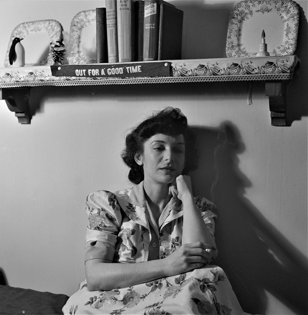 Dark Fantasy: Listening to a murder mystery on the radio in a boardinghouse room. Washington, D.C., January 1943.
