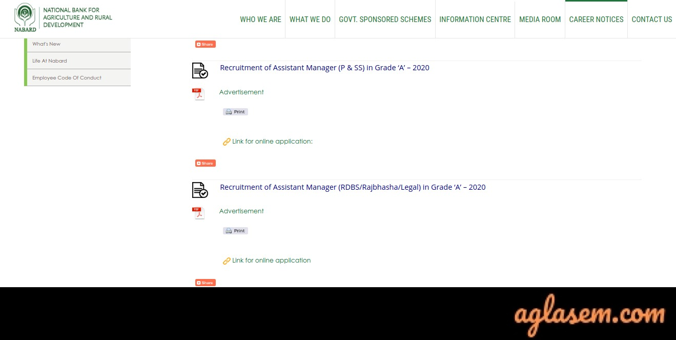 NABARD Grade A Apply Online 2020: Process Over