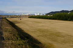 Ground golf along Yasugawa