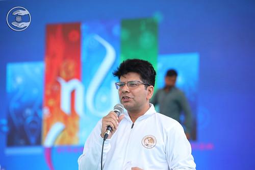 Stage Coordinator Rakesh Mutreja Ji