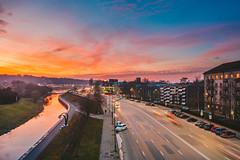 Golden hour | Kaunas aerial