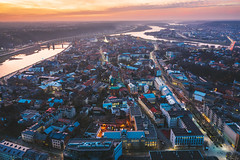 Old town loghts   Kaunas aerial
