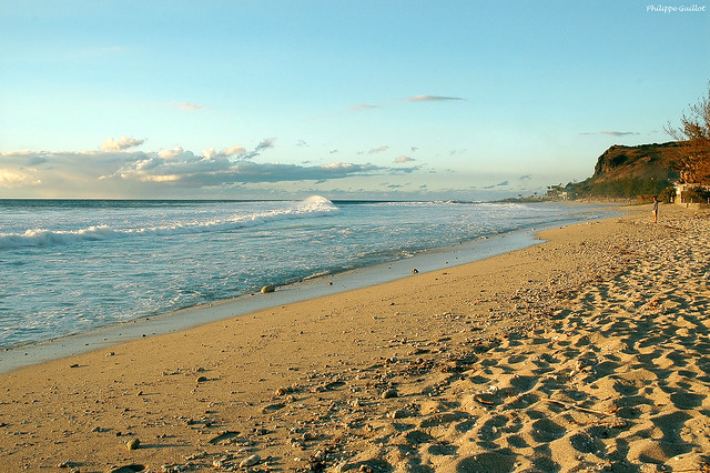 La plage de Boucan Canot en fin d'après-midi