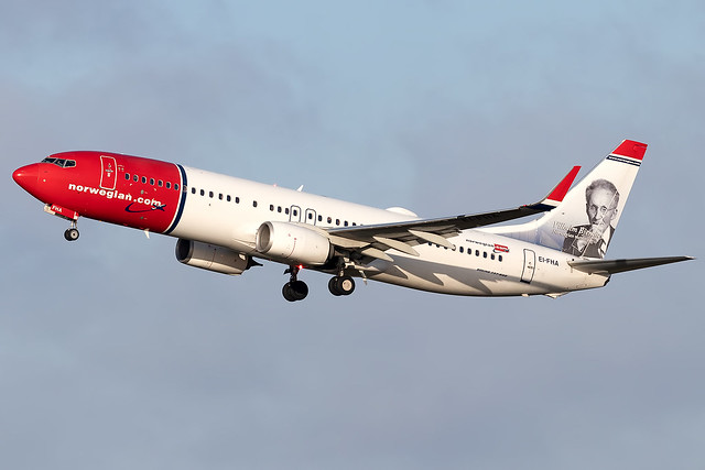 EI-FHA Norwegian Air Shuttle Vihelm Bjerknes Tail B737-800 Copenhagen Kastrup Airport