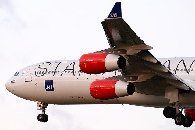 OY-KBM SAS Scandinavian Airlines System Star Alliance Livery A340-300 Copenhagen Kastrup Airport