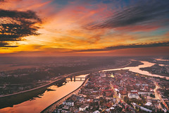 Warm winter sunset | Kaunas aerial #14/365