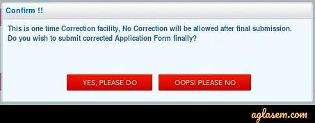 NEET 2020 Correction Window (Reopens) - Edit Application Form @ ntaneet.nic.in