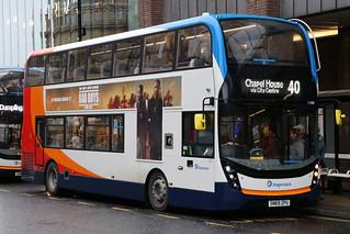 Stagecoach 11290 SN69ZPU is seen in Newcastle on 14 January 2019
