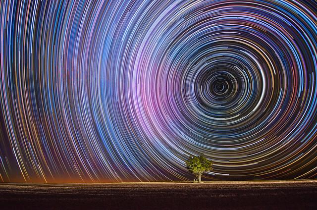 Dusk to Dawn Star Trails at Beverley, Western Australia