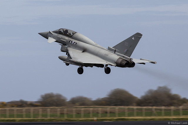 RAF Eurofighter Typhoon T3 ZK380/T; II (AC) Squadron, RAF Lossiemouth