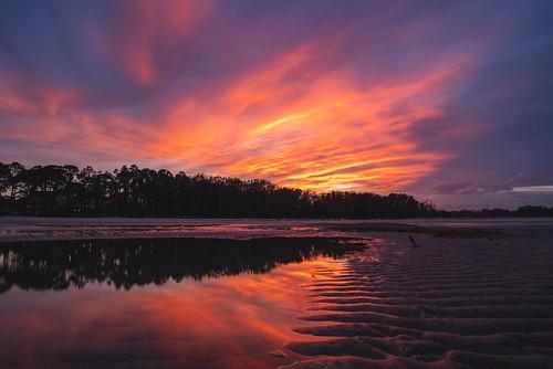 2020 sonyilce7rm2a7rii zeissbatis18mmf28 reallyrightstuff ba72l bh55 rrspcl1 tvc33 clouds coastal beach landscapephotography nikcollectionbydxo sunset textures southcarolina hiltonheadisland fishhaulbeach