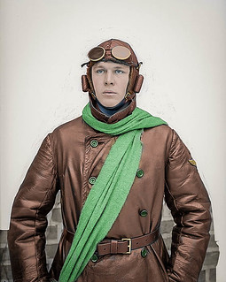 Portrait of a Swedish military pilot (1923)