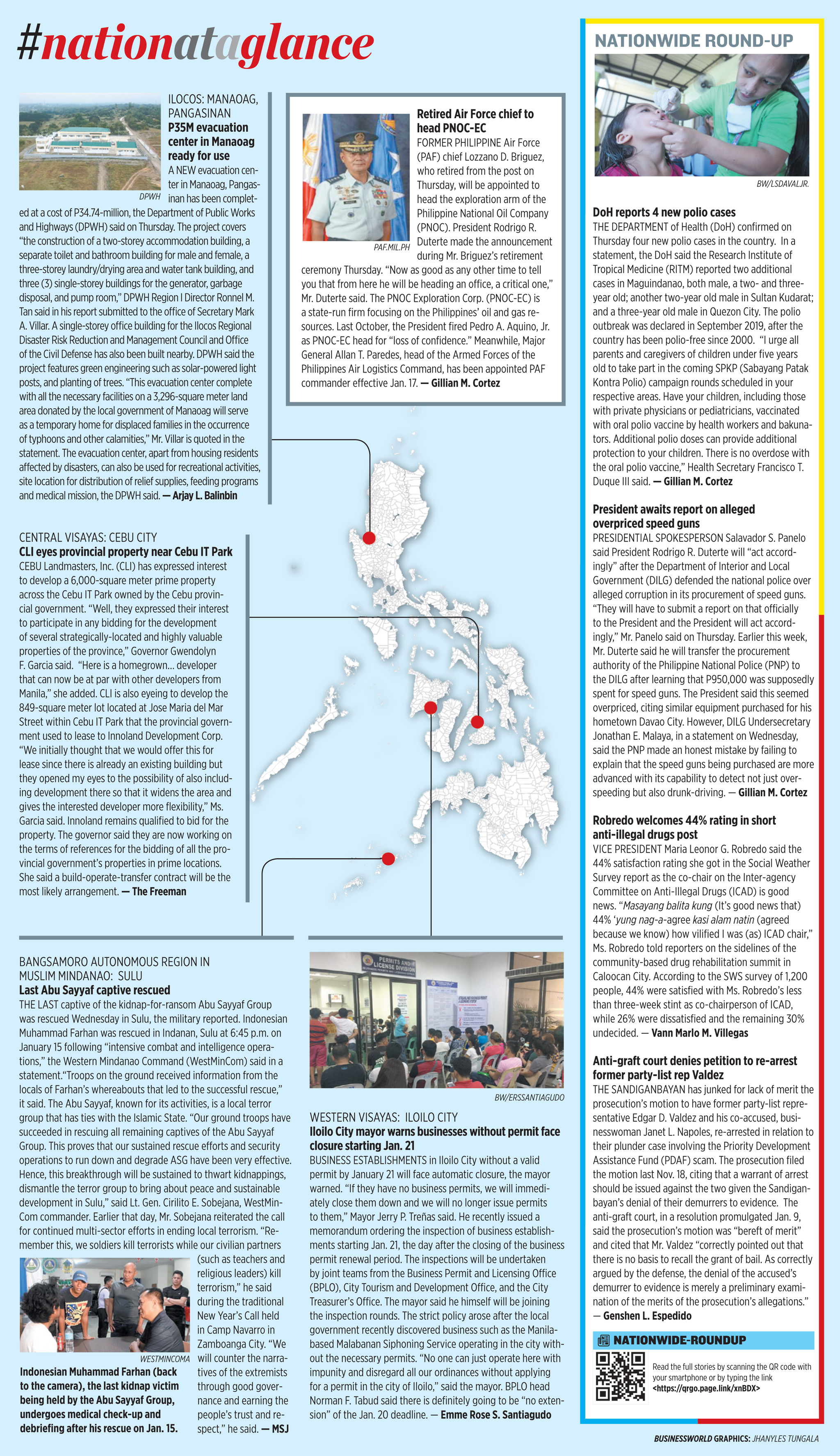 Nation at a Glance — (01/17/20)