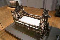 1650 ebony and ivory Indian cradle