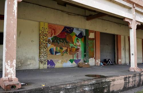 sanpedrosula honduras ferrocarrilnacionaldehonduras ferrocarrilnacional trainstation railwaystation cortésdepartment departamentodecortés cortés mural murals murales