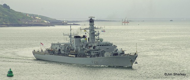 HMS Argyle at Plymouth Sound