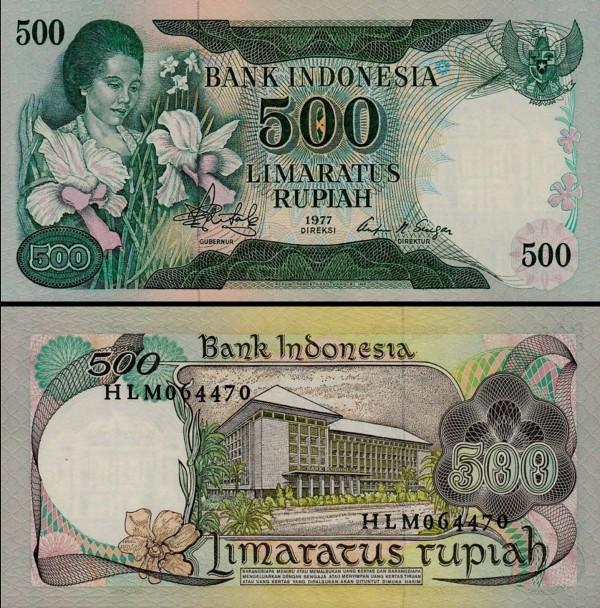 500 Rupií Indonézia 1977 P117