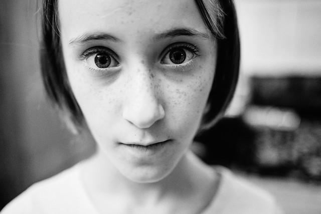 Wide angle lens portrait