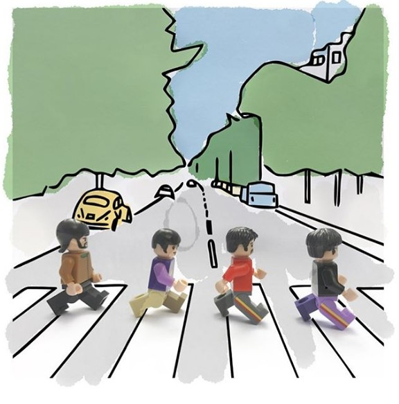 Beatles - Abbey Road in Lego