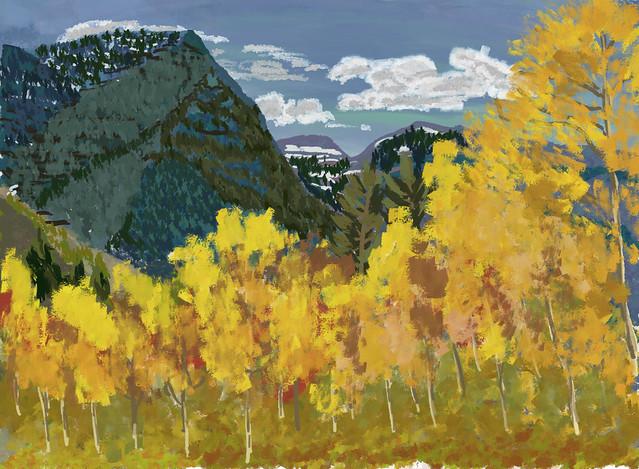 My Travel Paintings - Utah Alpine Loop Autumn