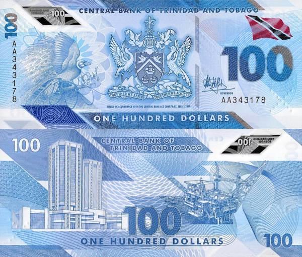 100 Dolárov Trinidad a Tobago 2019 P60 polymer