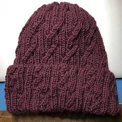 交差模様の帽子