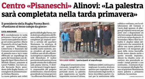 Gazzetta di Parma 16.01.20 - Sopralluogo lavori palestra