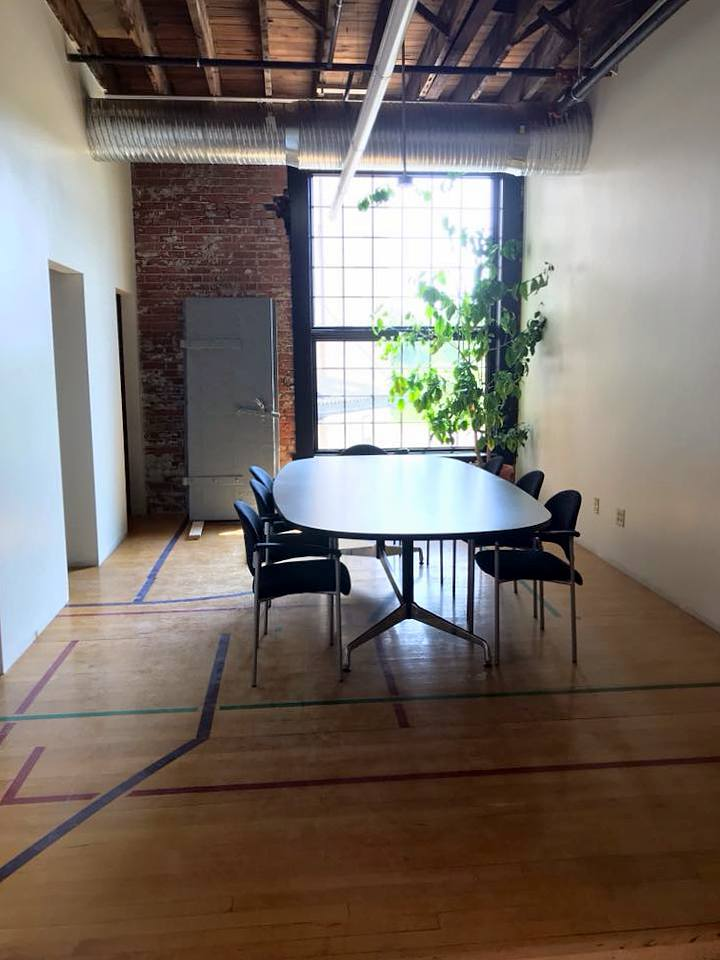 Basketball court floors at Young and Wright Architectural, Elk Street, Buffalo.