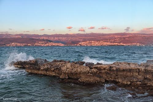 rocks sea wind landscape shore seascape croatia hrvatska europe canon