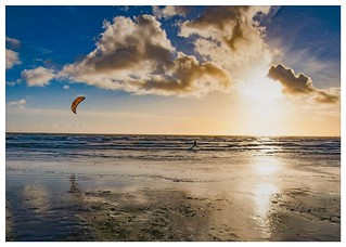 Winter kitesurfer