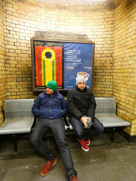 dans le métro de Londres