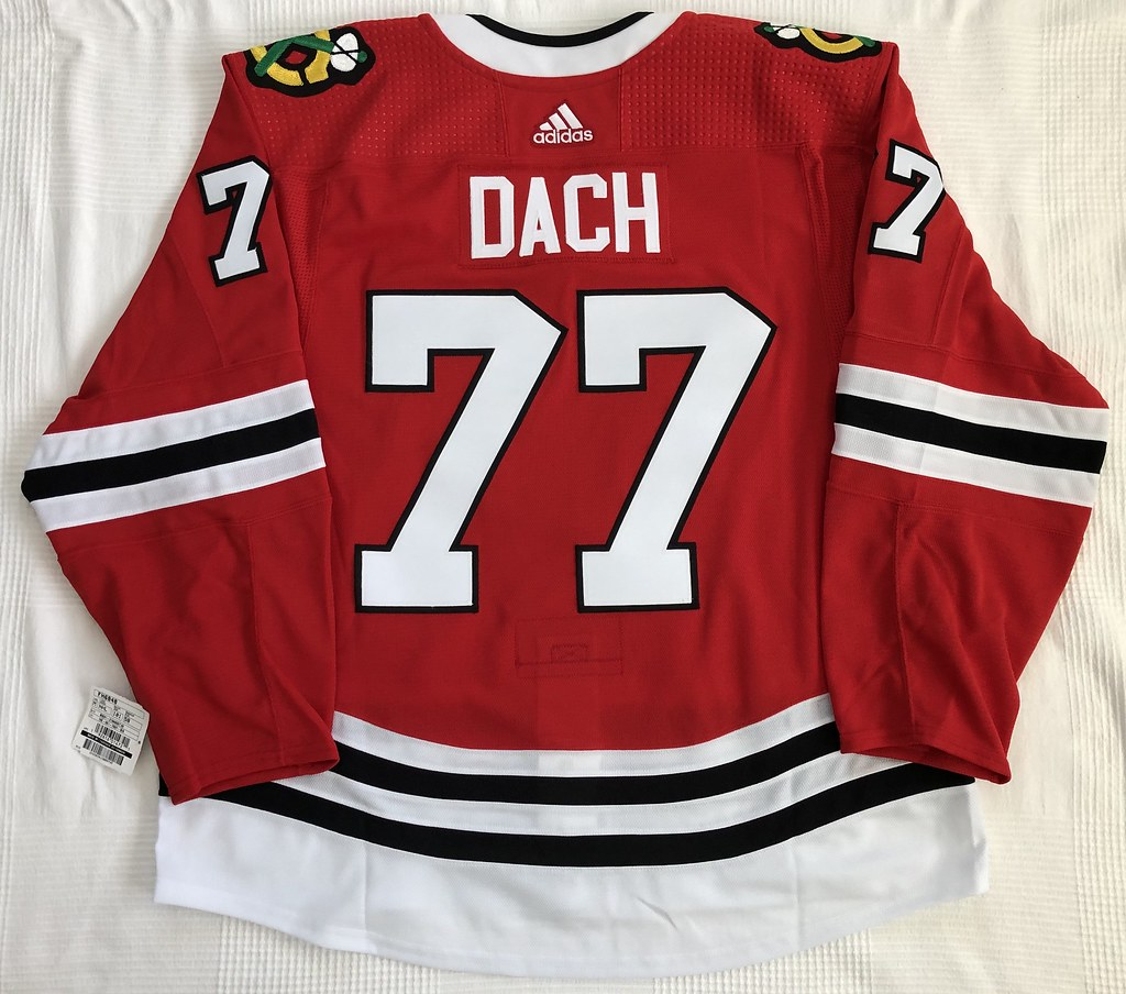 2019-20 Kirby Dach Chicago Blackhawks Home Jersey Back