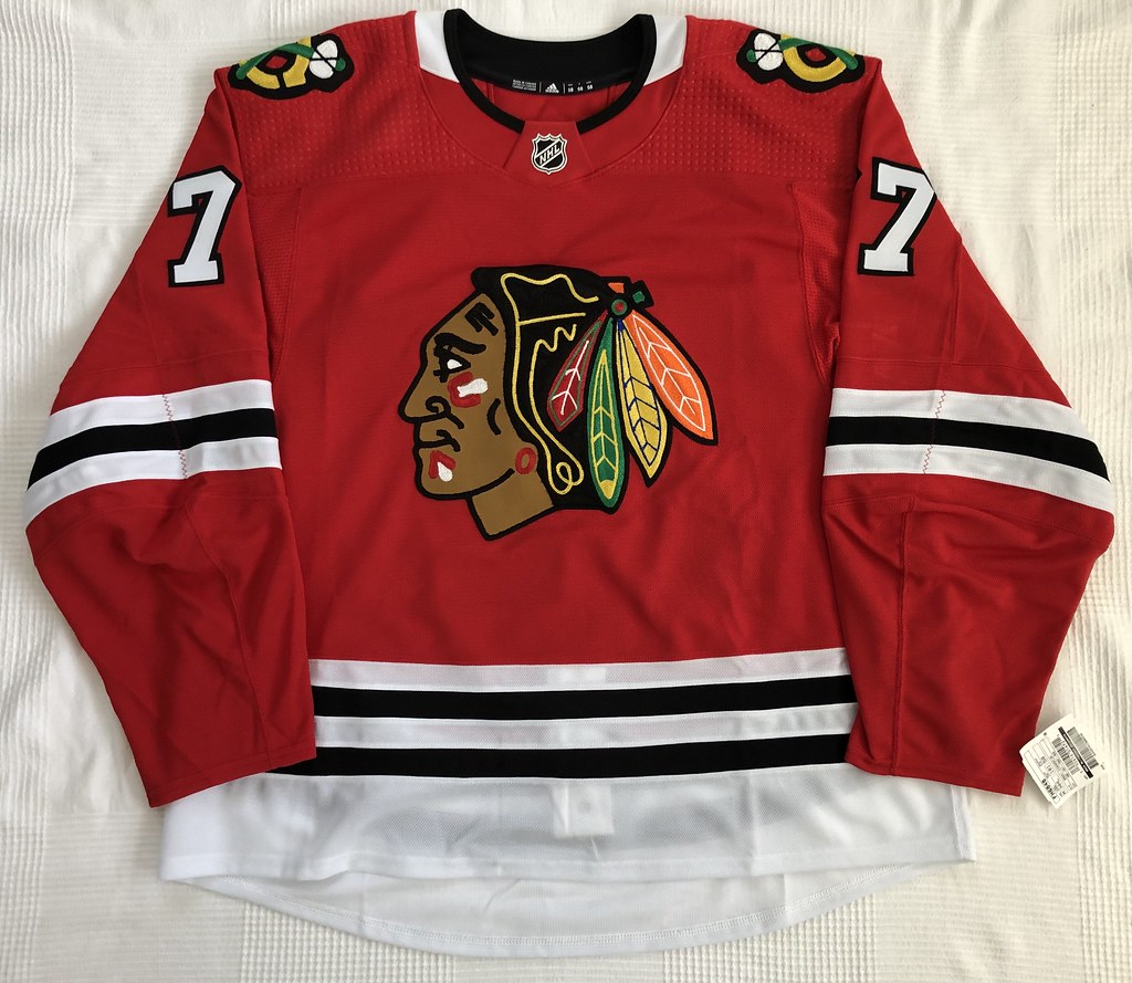 2019-20 Kirby Dach Chicago Blackhawks Home Jersey Front