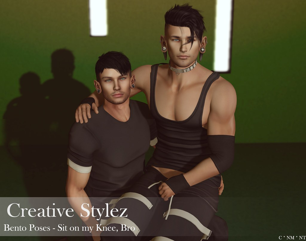 Creative Stylez – Bento Poses -Sit on my Knee, Bro –