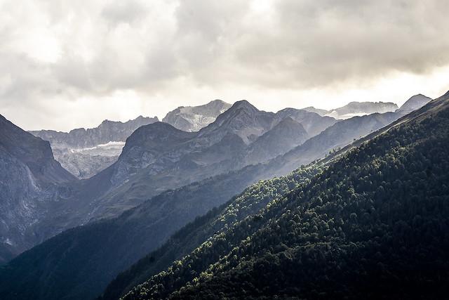 Desde el Mirador de Vilamòs. Valle de Arán (Pirineo de Lleida)
