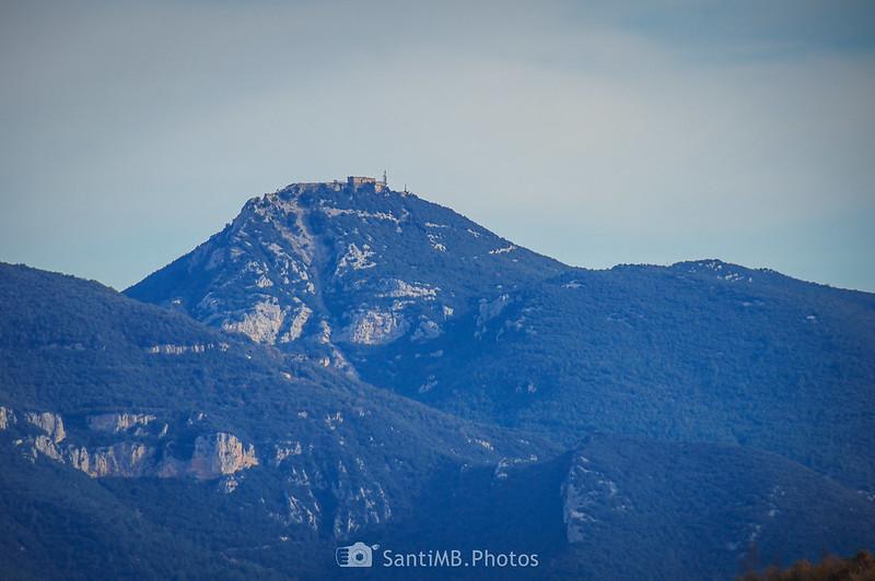 La Mare de Déu del Mont desde el volcán e Repassot