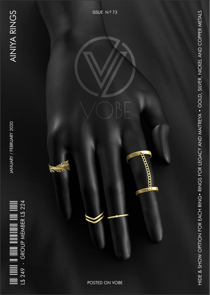 "VOBE for TRES CHIC -""AINIYA"" RINGS"