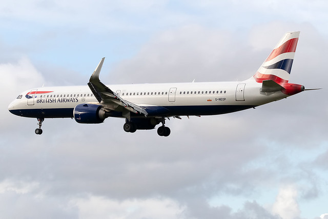 G-NEOP British Airways A321neo London Heathrow Airport