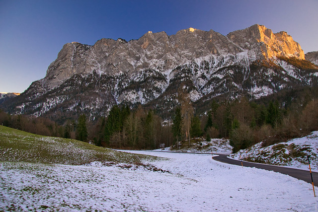 Evening view from Oberjettenberg, Berchtesgaden region