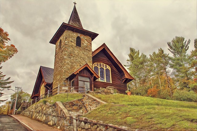 Lake Placid New York - St. Eustace's Church - Exterior